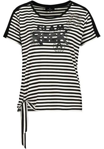 Monari Kurzarmshirt, mit Ringel - Streifen und Schrift kaufen