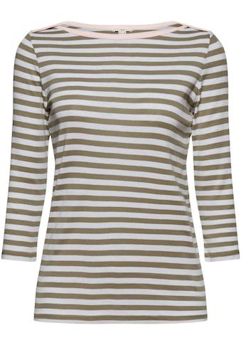 edc by Esprit 3/4-Arm-Shirt, mit Streifenmuster und U-Boot Ausschnitt kaufen