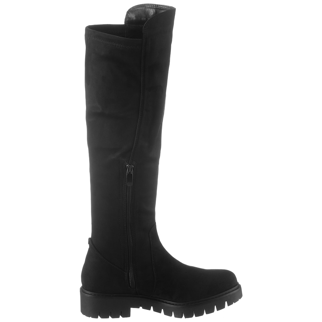 TOM TAILOR Stiefel, mit cooler Plateausohle