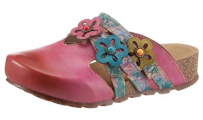LAURA VITA Clog »BRCYANO«, mit schöner Blütenverzierung kaufen