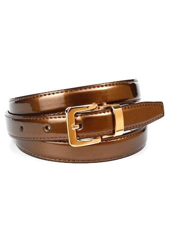 Anthoni Crown Ledergürtel, in schmaler Form aus Lackleder, abgesteppte Kanten kaufen