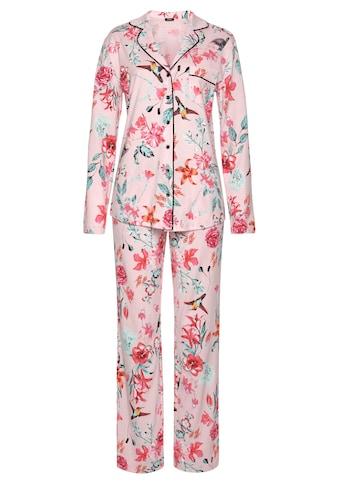 Vivance Dreams Pyjama, in klassischer Form mit Reverskragen kaufen