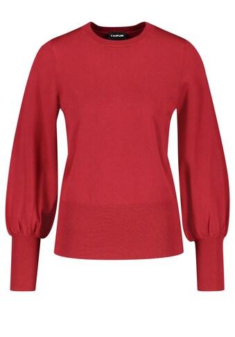 Taifun Strickpullover »Pullover mit Ballonärmeln« kaufen