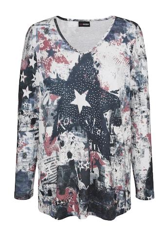 MIAMODA Langarmshirt, mit Dekosteinchen kaufen