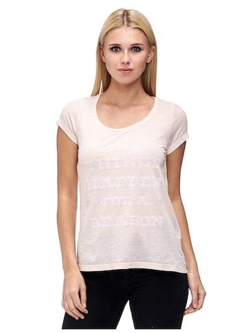 Decay T-Shirt, mit Ärmelaufschlag und Paillettenschriftzug kaufen