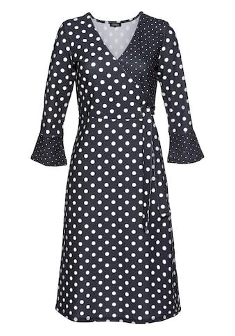 Aniston SELECTED Jerseykleid, mit modischen Trompetenärmeln kaufen