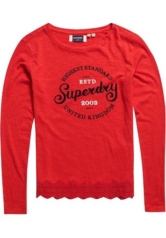 Superdry Langarmshirt »GRAPHIC LACE MIX LS TOP« kaufen
