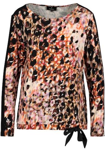 Monari Langarmshirt, mit Leo-Print in Animal -Look und glänzendem Lurexband kaufen