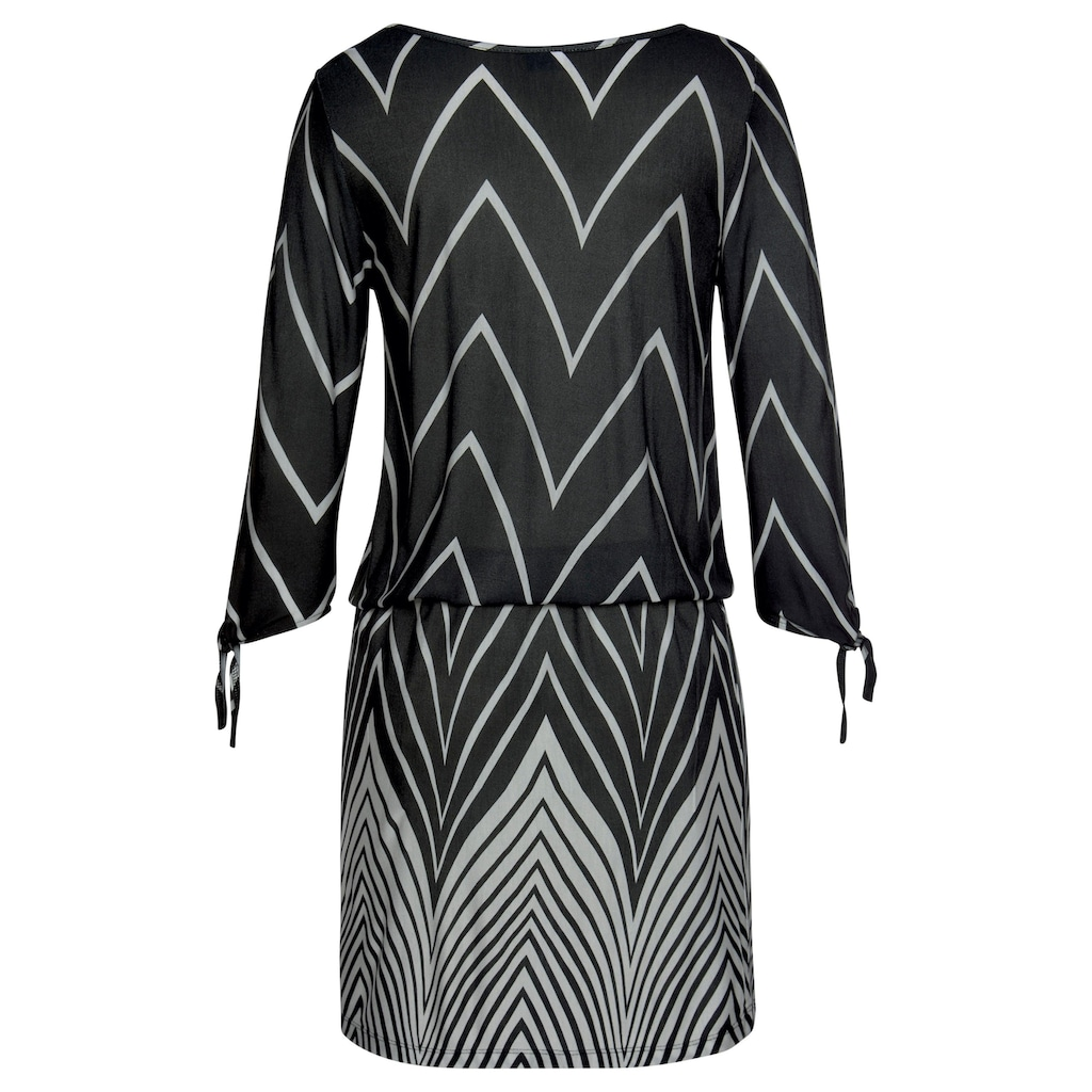 LASCANA Jerseykleid, im Schwarz-Weiß-Design