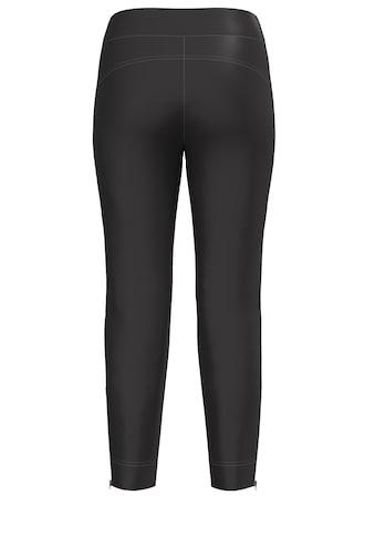bianca Stretch-Hose »SIENA«, im cleanen Look mit Bindegürtel und Zippern kaufen