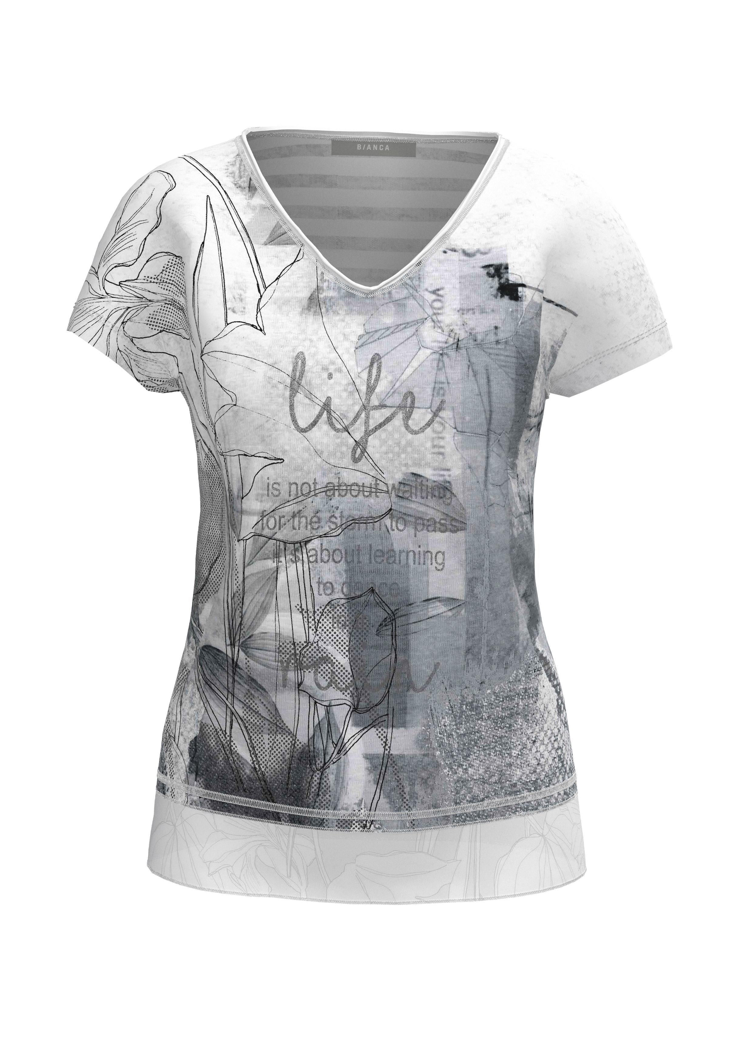 bianca -  Print-Shirt JULIE, mit Wording und Metallic-Effekt