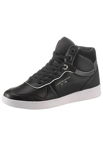 Tommy Hilfiger Sneaker »BLACK ELEVATED MID COURT SNEAKER«, mit seitlicher Logoprägung kaufen