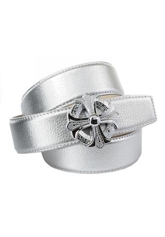 Anthoni Crown Ledergürtel, Stilisiertes Kreuz kaufen