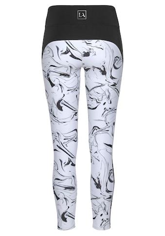 LASCANA ACTIVE Leggings »White Marble«, im Marmor-Muster mit Seitenstreifen kaufen