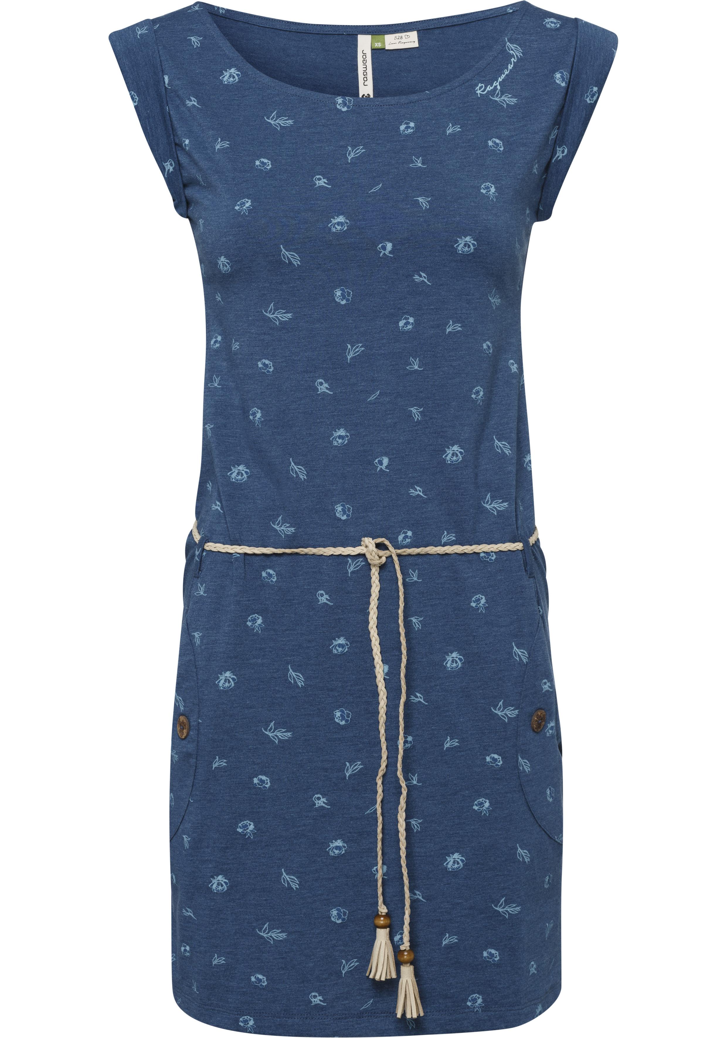 ragwear -  Jerseykleid TAG B ORGANIC, (2 tlg., mit abnehmbarem Gürtel), mit süßem Donuts und Cupcakes -Allover-Print