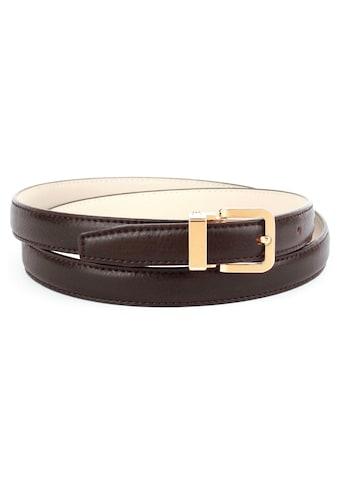 Anthoni Crown Ledergürtel, in schmaler Form, modische Prägung kaufen