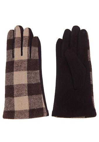 leslii Handschuhe mit trendigem Karomuster kaufen
