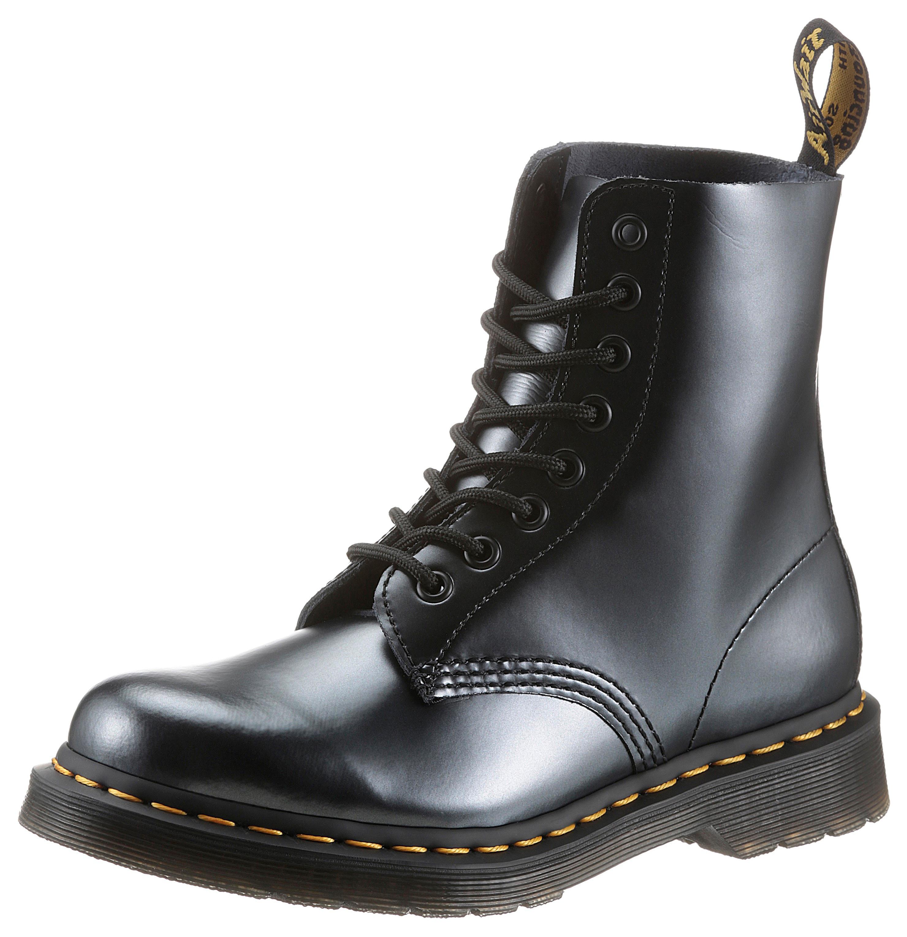 dr. martens -  Schnürstiefel 1460 Pascal 8 Eye Boot, im Metallic Look