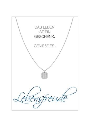HERZ-KARTE Silberkette »Lebensfreude«, rhodiniert mit Blume des Lebens, 925/-... kaufen