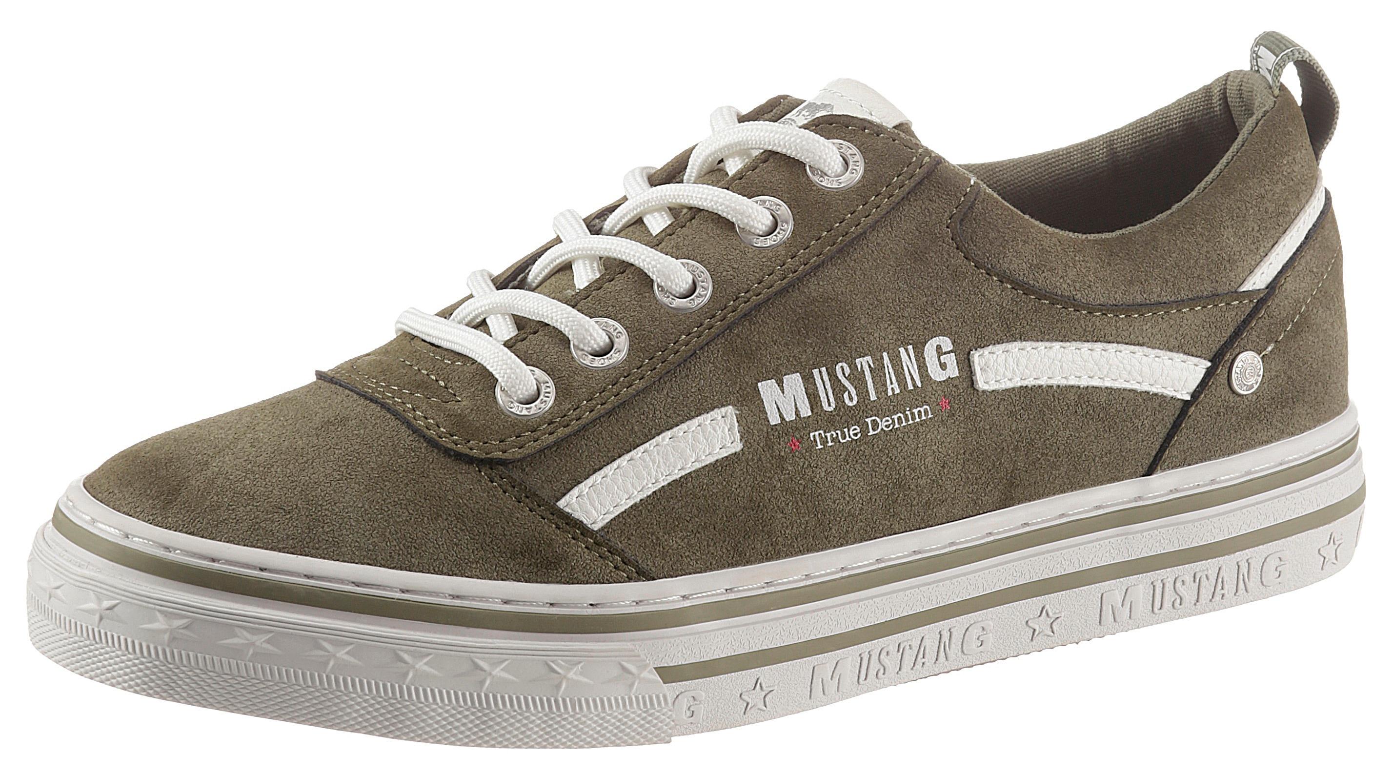 mustang shoes -  Plateausneaker, mit großem Logoschriftzug