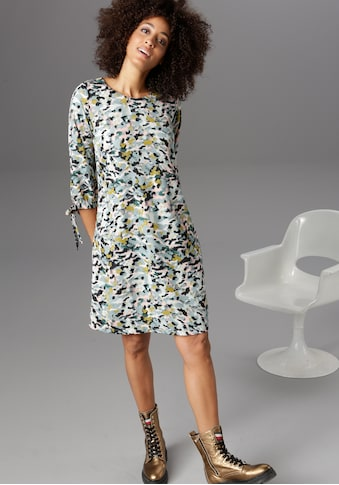 Aniston CASUAL Blusenkleid, mit Bindeband an den 3/4-langen Ärmeln kaufen