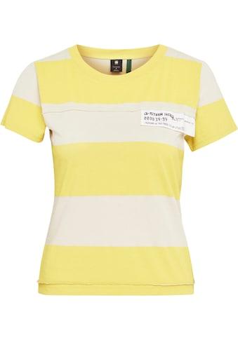 G-Star RAW Poloshirt »Slim Fit Wide Stripe T-Shirt«, mit horizontalen Streifenmuster kaufen