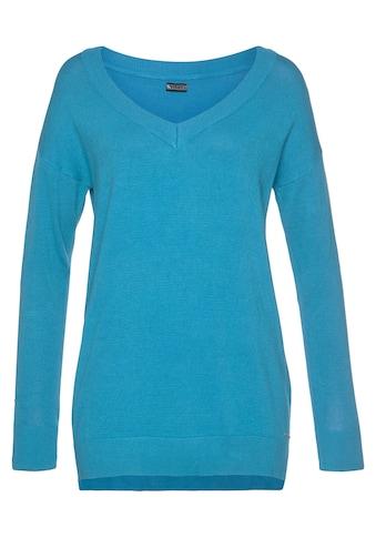 Laura Scott V-Ausschnitt-Pullover, mit Schlitzen im Saum - NEUE KOLLEKTION kaufen