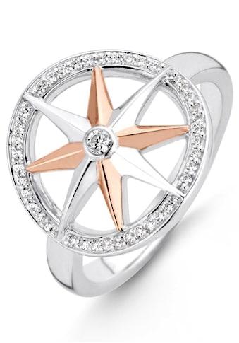 TI SENTO - Milano Silberring »Kompass-Stern, 12155ZR/52/54/56/58«, mit Zirkonia kaufen