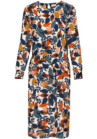 seidensticker Blusenkleid, (Set, mit abnehmbarem Gürtel), Satin-Kleid mit Allover-Druck, Midi-Kleid kaufen
