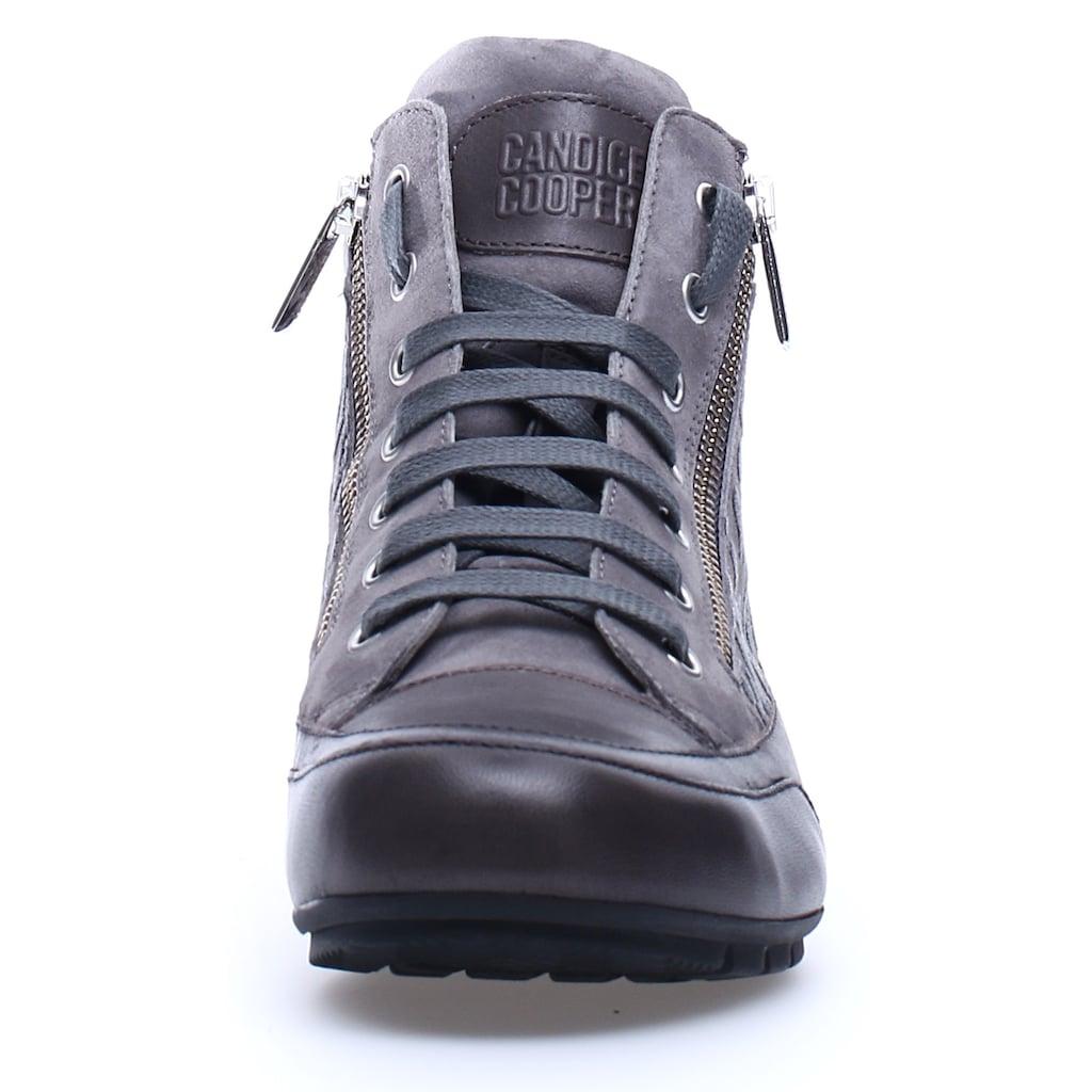 Candice Cooper Sneaker »MONTREAL«, aus bedrucktem Leder mit Innenreißverschluss