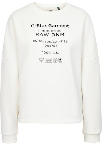 G-Star RAW Sweatshirt »Graphic text«, mit schimmerndem Folien Logodruck kaufen