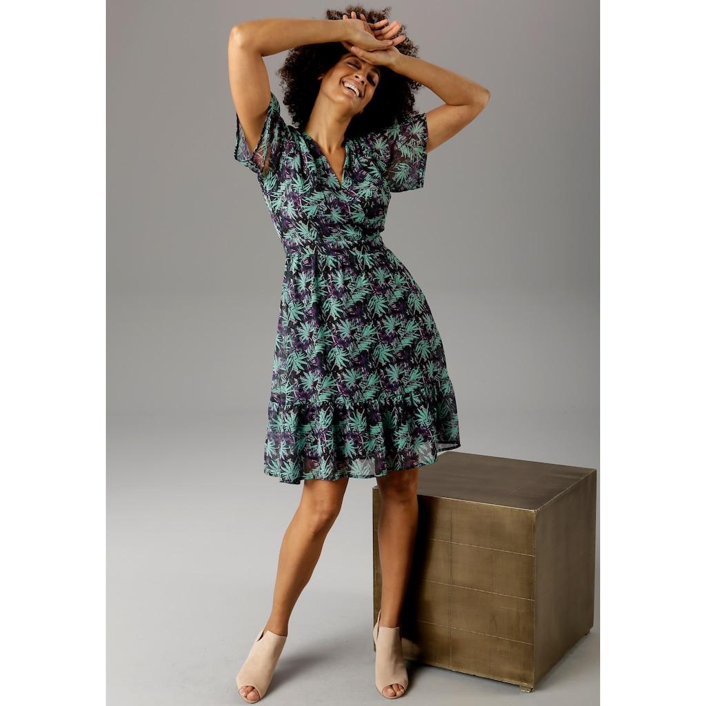 Aniston CASUAL Sommerkleid, mit V-Ausschnitt in Wickeloptik