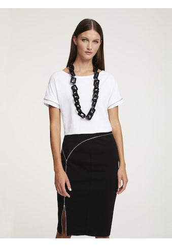 Rundhalsshirt mit Zier - Reißverschluss kaufen
