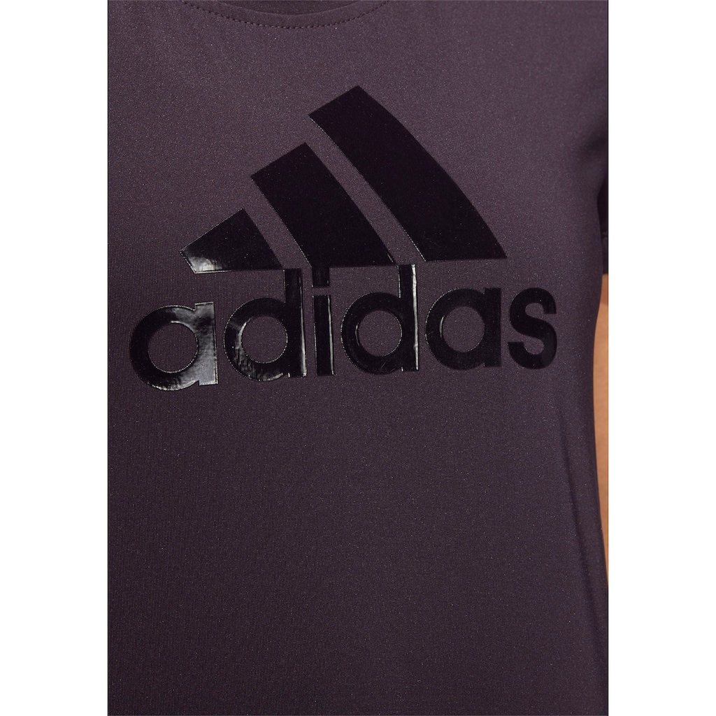 adidas Performance T-Shirt »GLAM ON BADGE OF SPORT LOGO«