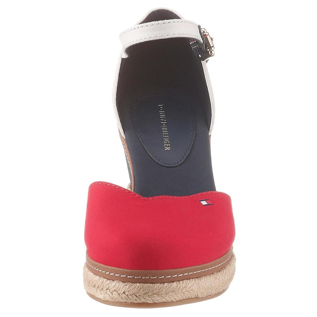 Tommy Hilfiger Spangenpumps »BASIC CLOSED TOE MID WEDGE«, mit verstellbarer Schnalle