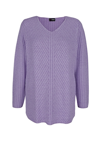 MIAMODA V-Ausschnitt-Pullover, in melierter Optik kaufen