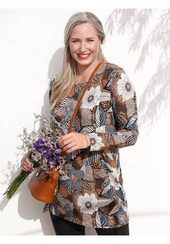 MIAMODA Longshirt, mit floralem Druck kaufen