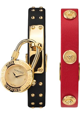 Versace Schweizer Uhr »Medusa Lock Icon, VEDW00119«, (Set, 3 tlg., mit zusätzlichem... kaufen