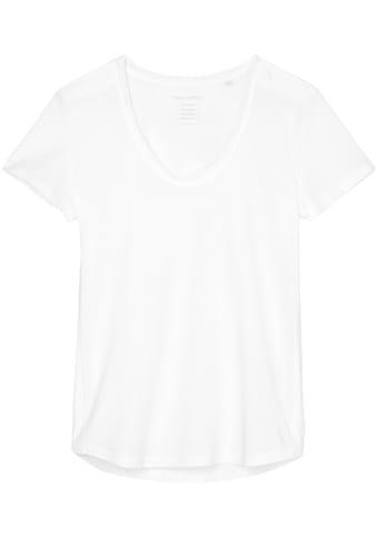 Marc O'Polo Kurzarmshirt, mit schmalem seitlich aufgesetzten Ton in Ton Seitenstreifen kaufen
