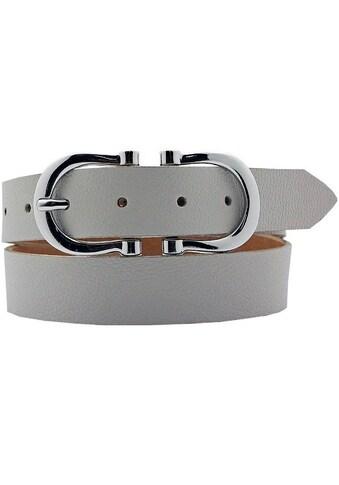 AnnaMatoni Ledergürtel, Hufeisen-Schnalle glänzend kaufen