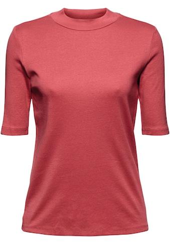 edc by Esprit T-Shirt, mit femininem Stehkragen kaufen