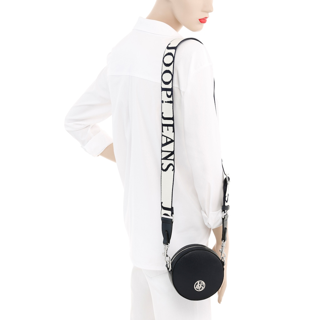 Joop Jeans Mini Bag »cintura ronda shoulderbag xsvz«, in runder Form mit modischem Textilumhängeriemen