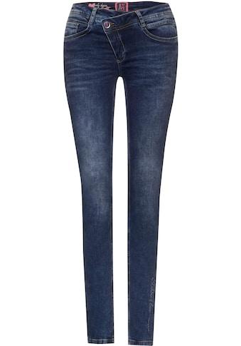 STREET ONE Stretch-Jeans »Style York«, mit asymmetrischem Verschluss kaufen