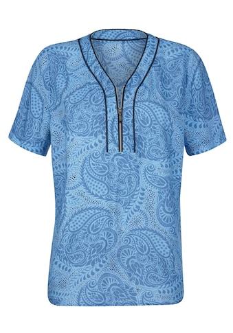 Mona Shirtbluse, mit dekorativer Paspel am Ausschnitt kaufen