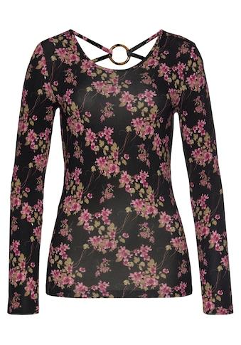 Melrose Langarmshirt, mit tiefem Rückenausschnitt und Zierring - NEUE KOLLEKTION kaufen