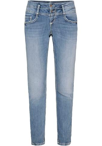 SOCCX Slim-fit-Jeans »KA:RA«, mit modischem Doppel-Bund Verschluss kaufen