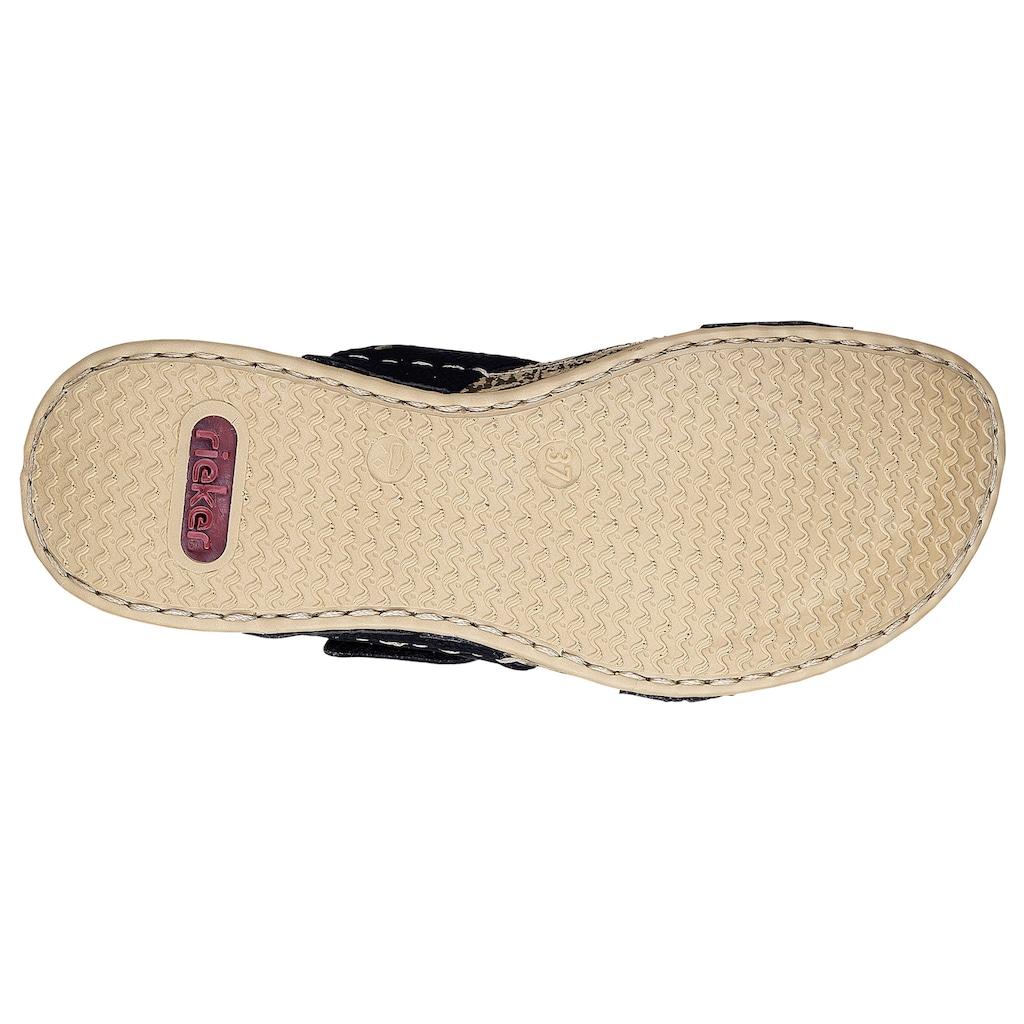 Rieker Pantolette, mit auffälliger Ziernaht