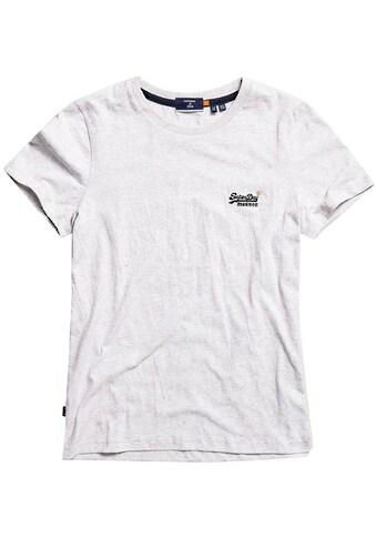 Superdry T-Shirt »ORANGE LABEL TSHIRT NS«, T-Shirt aus Bio-Baumwolle kaufen