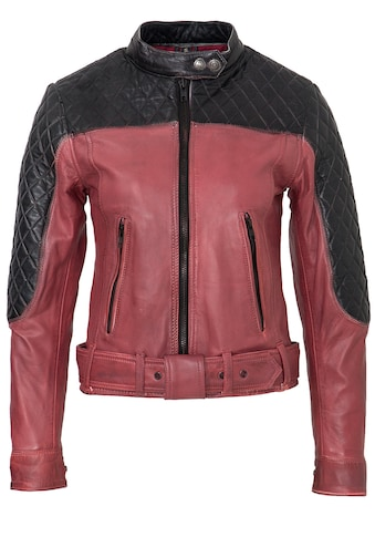 QueenKerosin Lederjacke, 2-farbig, Racing Look kaufen