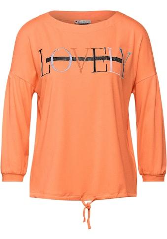 STREET ONE 3/4-Arm-Shirt, mit buntem Schriftzug und Nieten kaufen